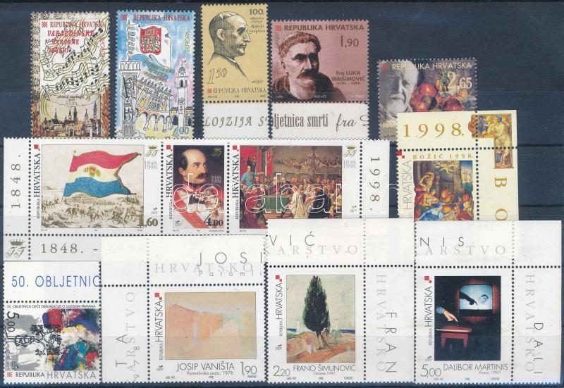 13 stamps, 13 klf bélyeg, közte ívszéli és ívsarki értékek