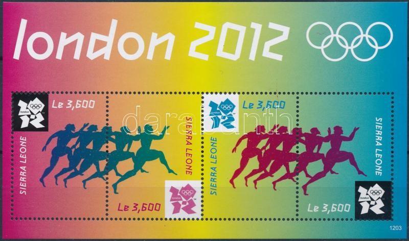 Summer Olympics, London mini sheet, Nyári Olimpia, London kisív