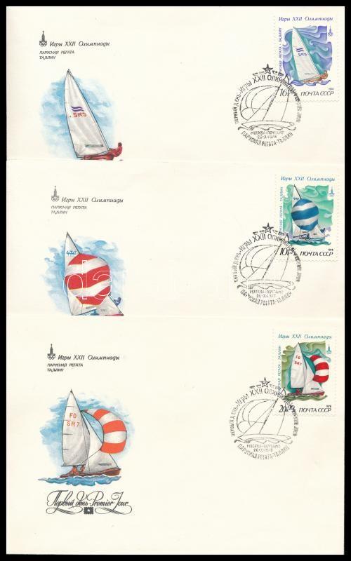 Summer Olympics 1980, Moscow set on 5 FDC, Nyári Olimpia 1980, Moszkva sor 5 db FDC-n