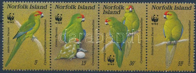 WWF: Parrot stripe of 4, WWF: Papagáj négyescsík