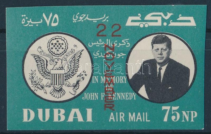 John F Kennedy imperforated stamp, John F Kennedy vágott bélyeg