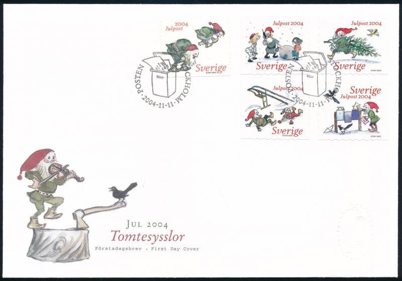 Christmas set on FDC, Karácsony sor FDC-n