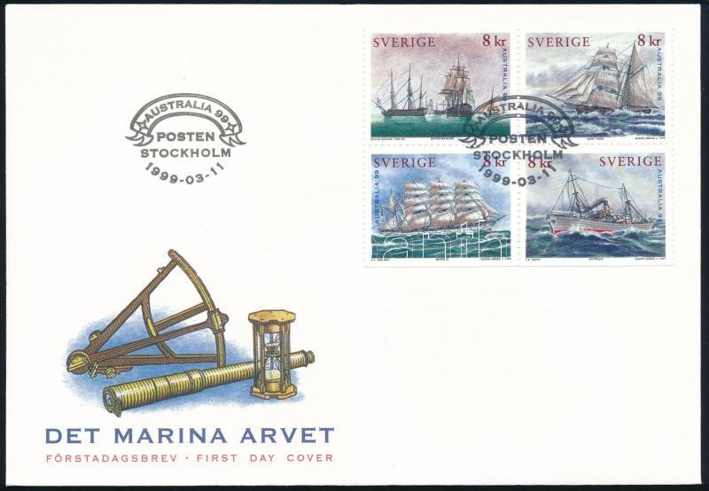 Stamp Exhibition block of 4 FDC, Bélyegkiállítás négyestömb FDC-n