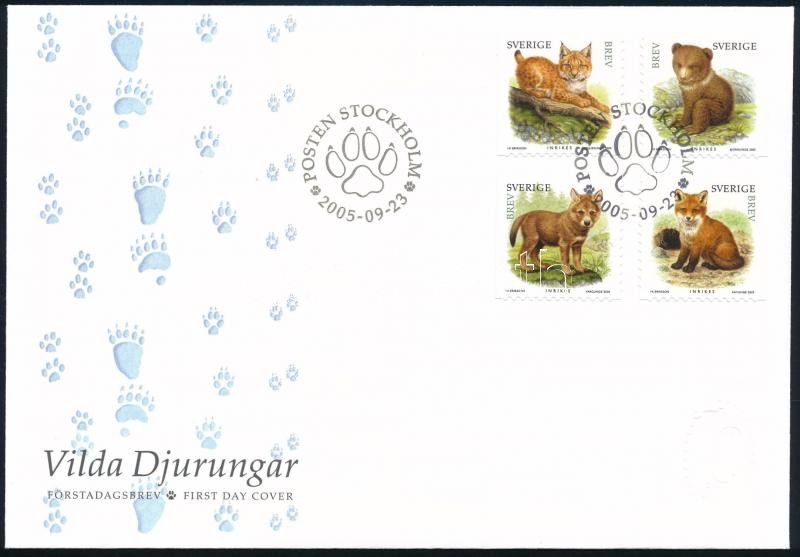 Wild animals set on FDC, Vadon élő állatok sor FDC-n