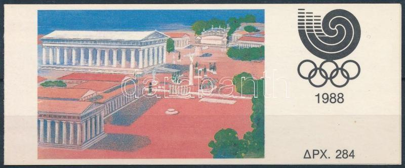 Summer Olympics, Seoul stamp-booklet, Nyári Olimpia, Szöul bélyegfüzet