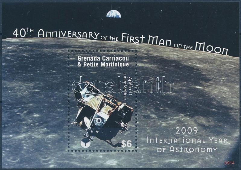 First man on the moon block, 40 éve járt az első ember a Holdon blokk