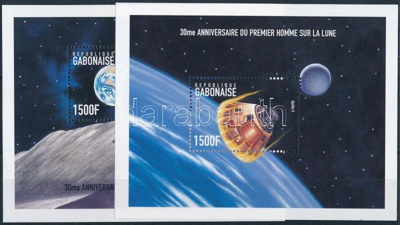 First man on the moon mini sheet set + blockset, 30 éve járt az első ember a Holdon kisívsor + blokksor