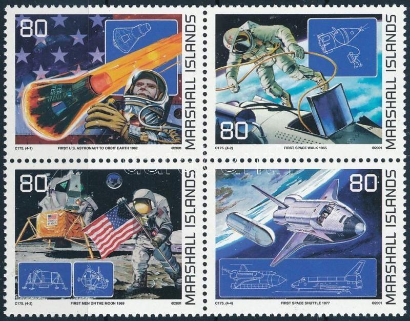 Space Research set block of 4, Űrkutatás sor négyestömbben