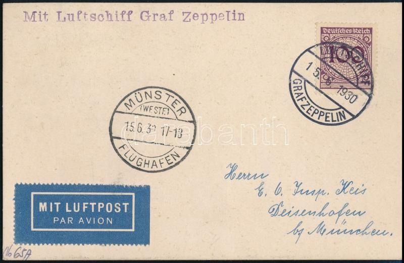 Zeppelin card Münster trip, Zeppelin münsteri útja levelezőlap