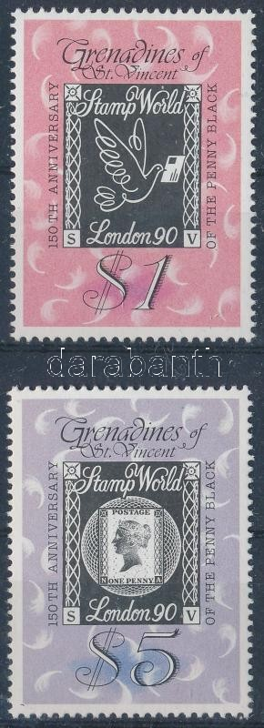 150th anniversary of stamp: International stamp exhibition; STAMP WORLD LONDON '90 set, 150 éves a bélyeg: Nemzetközi bélyegkiállítás; STAMP WORLD LONDON '90 sor