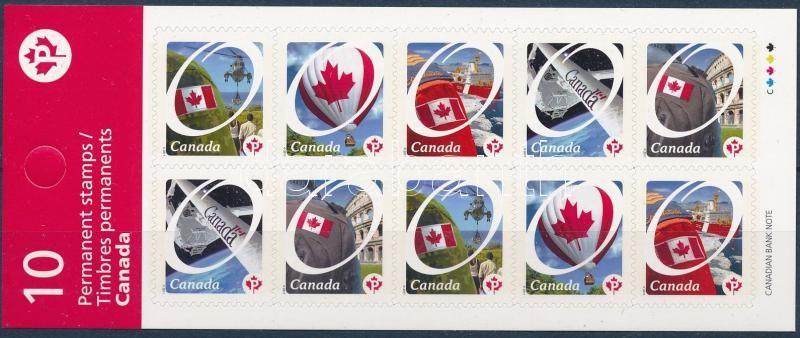 Flag self-adhesive stamp-booklet sheet, Zászló öntapadós bélyegfüzet lap