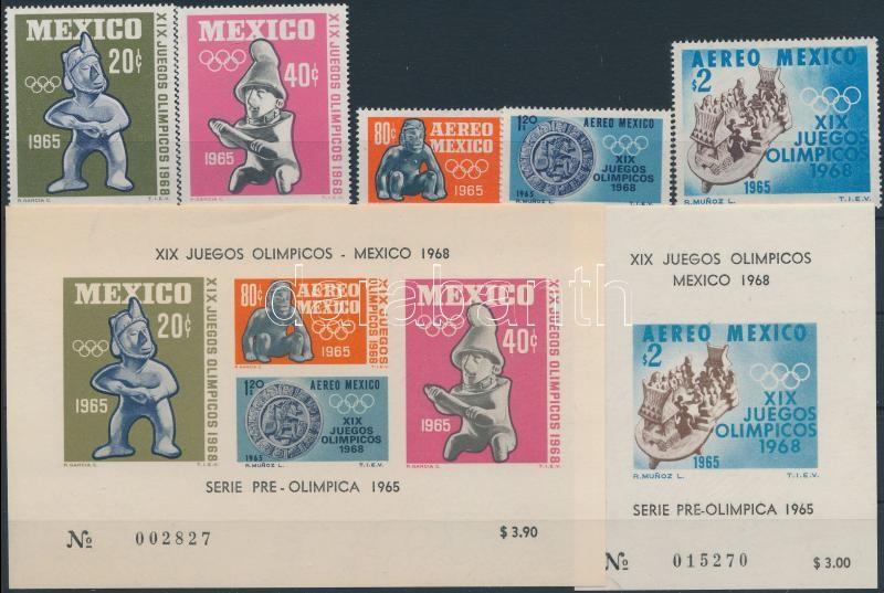 Mexikói olimpia + blokk, Mexican Olympics + block