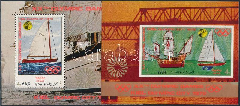 Olympic City, Kiel: Sailing mini sheet + 2 blocks, Olimpiai város, Kiel: Vitorlások kisív + 2 db blokk