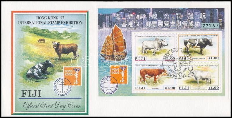 Stamp exhibition block on FDCs, Bélyegkiállítás blokk FDC-n