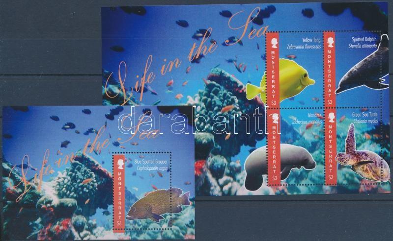 Fishes mini sheet + block, Halak kisív + blokk