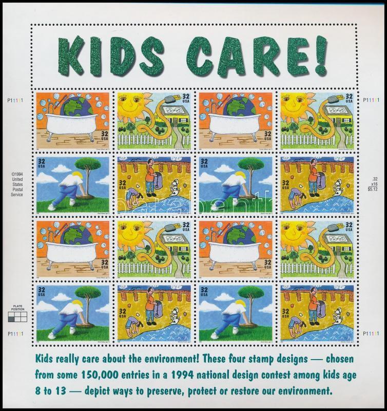 Children's drawings complete sheet, Gyermekrajzok teljes ív