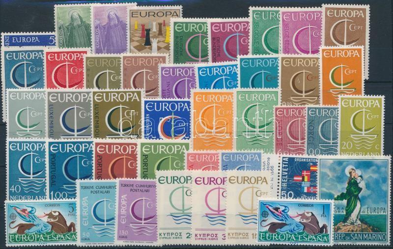Europa CEPT 1965-1966 17 sets + 6 stamps, Europa CEPT motívum 1965-1966 17 klf sor + 6 klf önálló érték