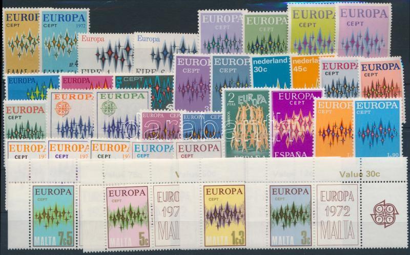 Europa CEPT 15 sets + 1 stamp, Europa CEPT motívum 15 klf sor + 1 önálló érték