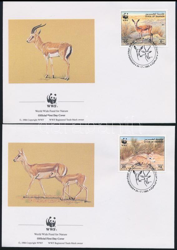 WWF: Gazelle set on 4 FDC-s, WWF: Gazelle sor  4 db FDC-n