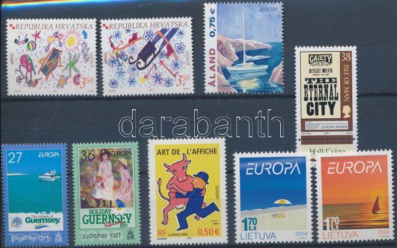 Europa CEPT 2003-2004 3 sets + 3 stamps, Europa CEPT 2003-2004 3 klf or + 3 klf önálló érték