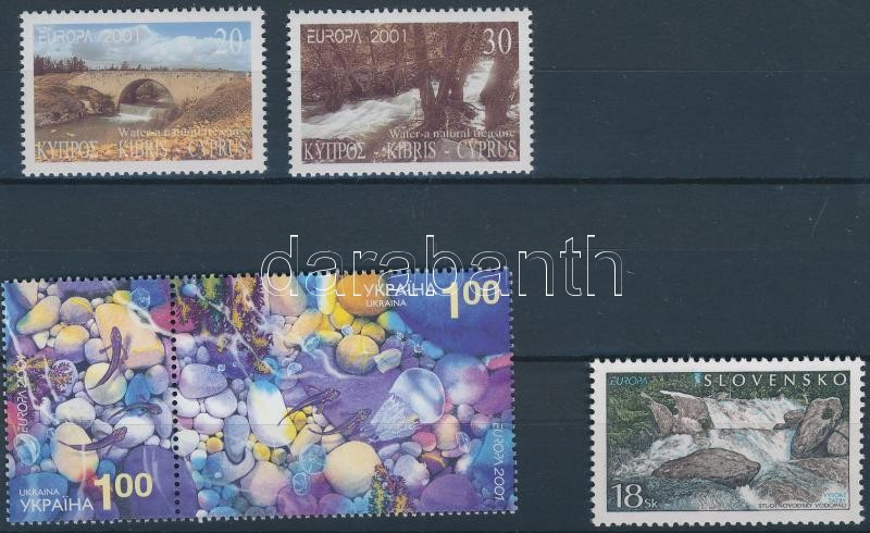 Europa CEPT 2 sets + 1 stamp, Europa CEPT 2 klf sor + 1 önálló érték