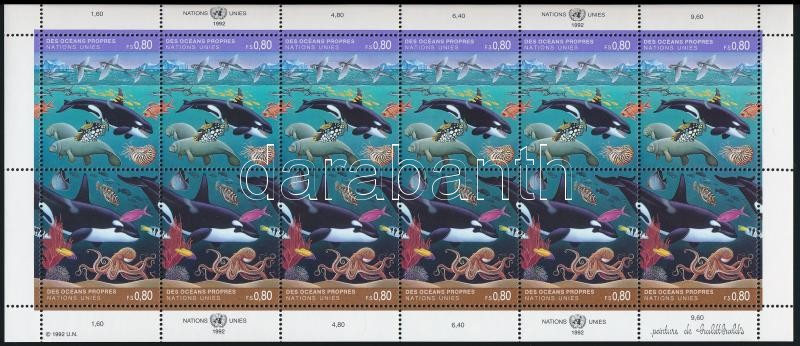 1992 Marine animals minisheet, 1992 Tengeri élővilág kisív