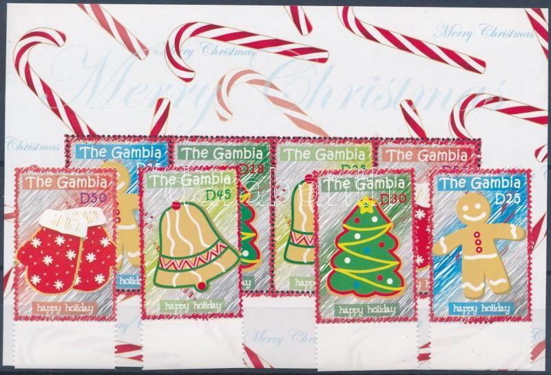 Christmas margin set + minisheet, Karácsony ívszéli sor + kisív