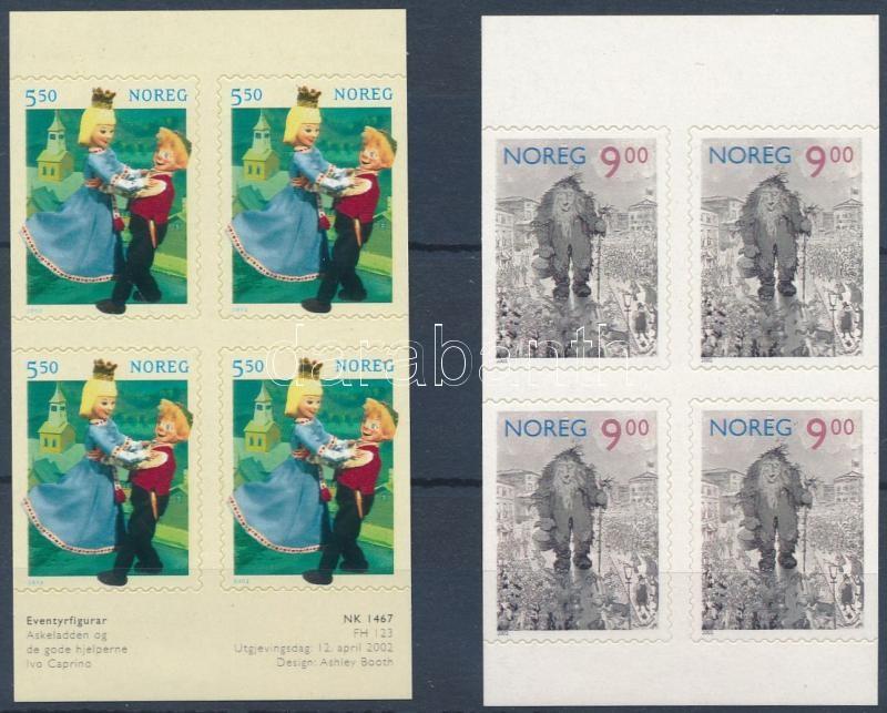 Cartoon self-adhesive stamp-booklet sheets, Mesefigurák öntapadós bélyegfüzetlapok