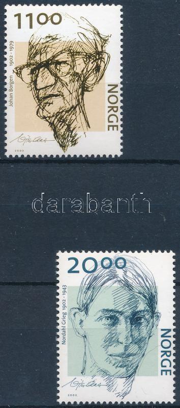 Johann Borgen and Nordahl Grieg set, Johann Borgen és Nordahl Grieg 100. születésnapja sor
