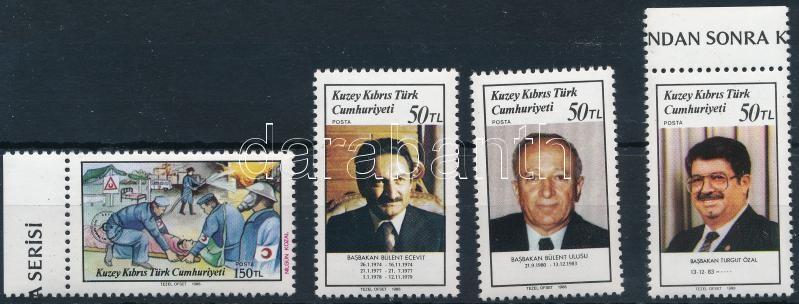 1 set + 1 stamp + FDC, 1 sor + 1 önálló érték + FDC-n