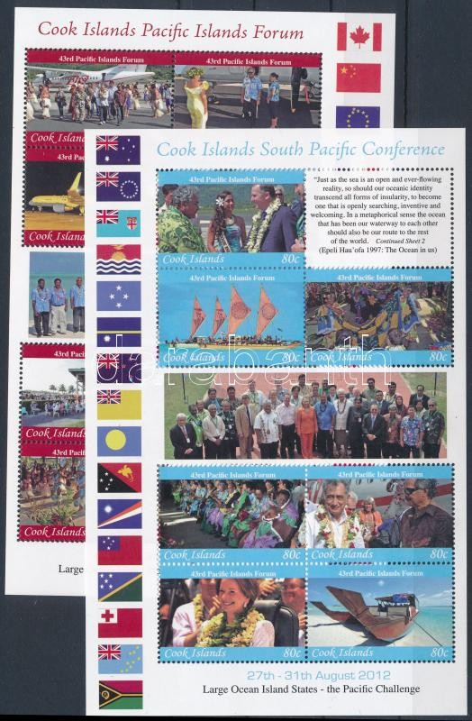 Pacific Forum (PIF) and Conference mini sheet set, Csendes-óceáni Fórum (PIF) és Konferencia kisívsor