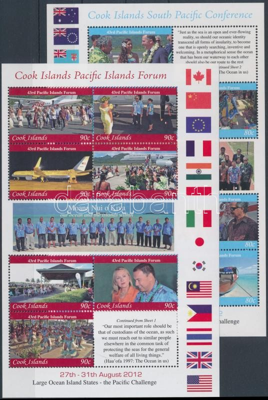 Pacific Islands Forum (PIF) and Conference minisheet set, Csendes-óceáni Fórum (PIF) és Konferencia kisívsor
