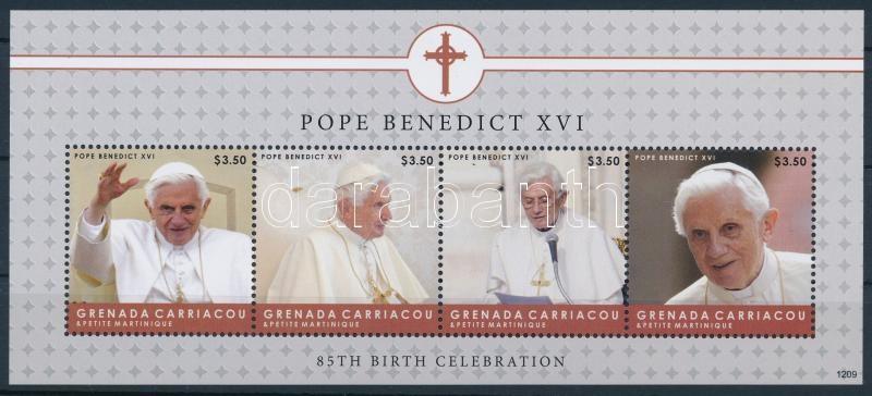 XVI Benedek pápa 85. születésnapja kisív, Pope Benedict XVI mini sheet