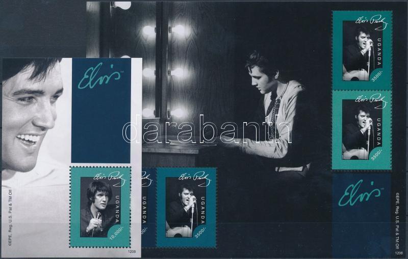 Elvis Presley mini sheet + block, Elvis Presley kisív + blokk