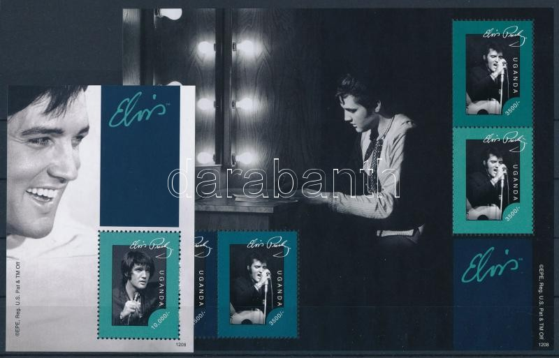 Elvis Presley minisheet + block, Elvis Presley kisív  + blokk