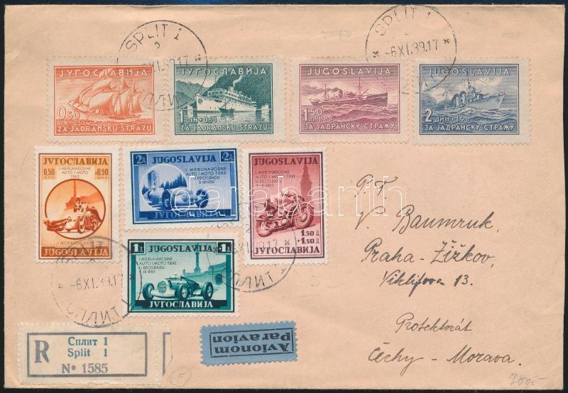 Registered airmail cover to Prague, Ajánlott légi levél Prágába