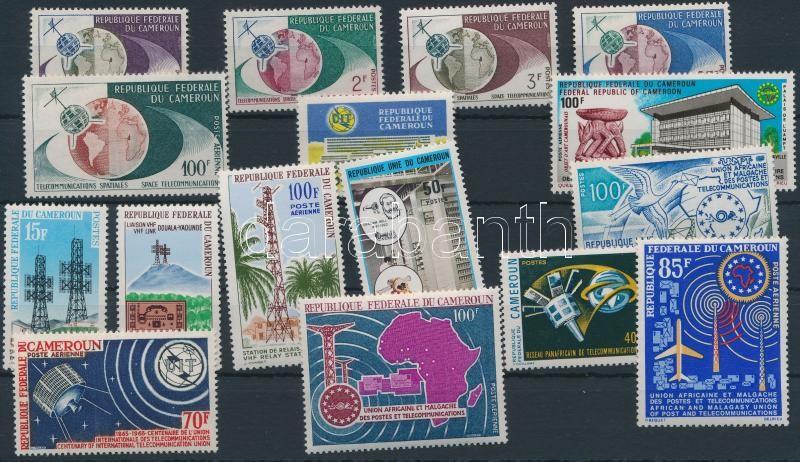 1963-1976 Telecommunications 16 pcs, incl set, 1963-1976 Telekommunikáció 16 klf, közte sor