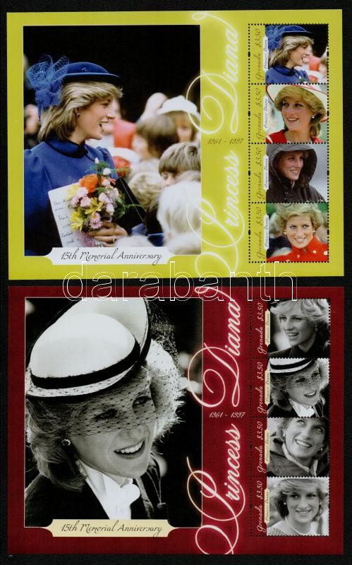 Lady Diana 2 minisheets, Lady Diana 2 klf kisív