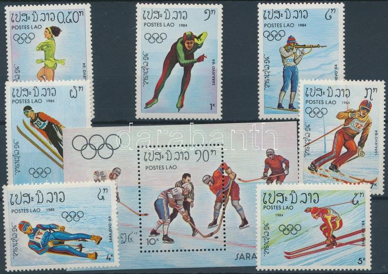 Winter Olympics, Sarajevo set + block, Téli olimpia, Szarajevó sor + blokk