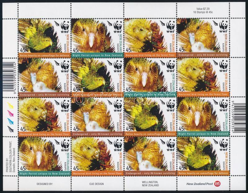 WWF: Birds minisheet, WWF: Madarak kisív