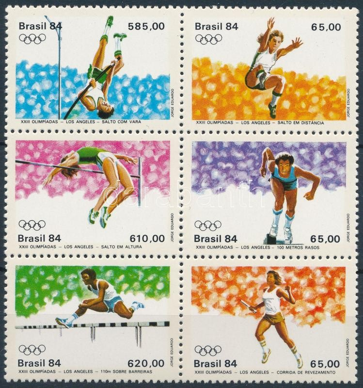 Summer Olympics, Los Angeles set in block of 6, Nyári Olimpia, Los Angeles sor 6-os tömbben