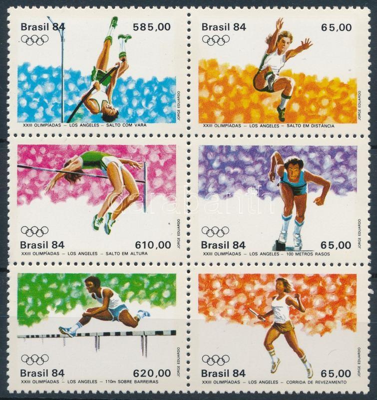 Summer Olympics, Los Angeles set block of 6, Nyári Olimpia, Los Angeles sor 6-os tömbben