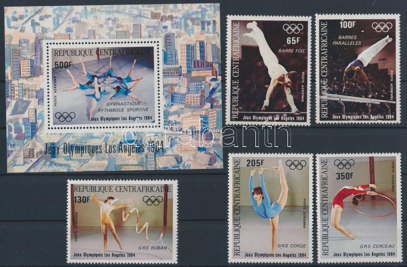 Nyári Olimpia, Los Angeles (IV.) sor  + blokk, Summer Olimpics, Los Angeles (IV.) set + block