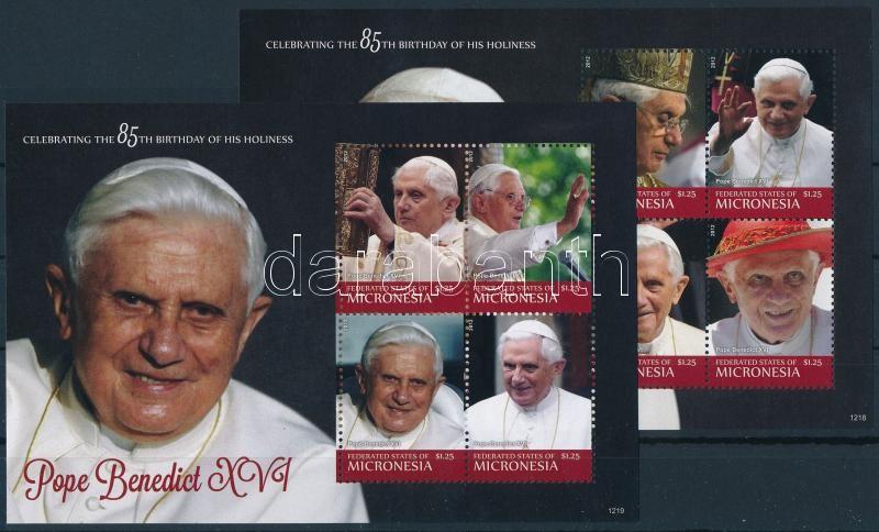 Pope Benedict XVI. minisheet set, XVI. Benedek pápa kisívsor