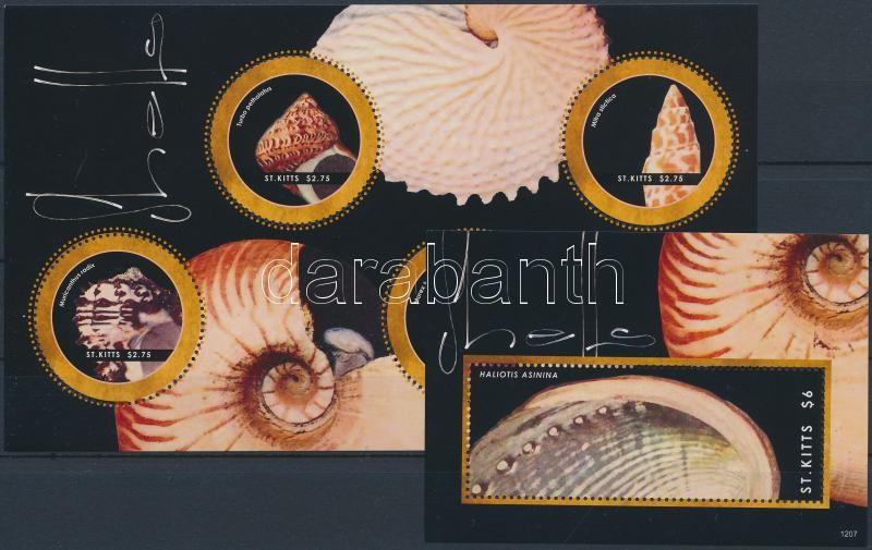Seashell minisheet + block, Kagylók kisív + blokk