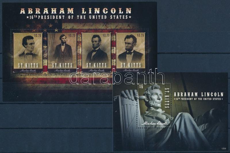 Abraham Lincoln minisheet + block, Abraham Lincoln kisív  + blokk