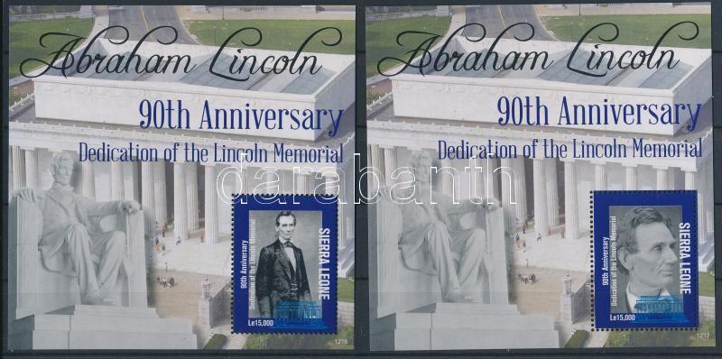 Abraham Lincoln minisheet + block pair, Abraham Lincoln kisív + blokkpár