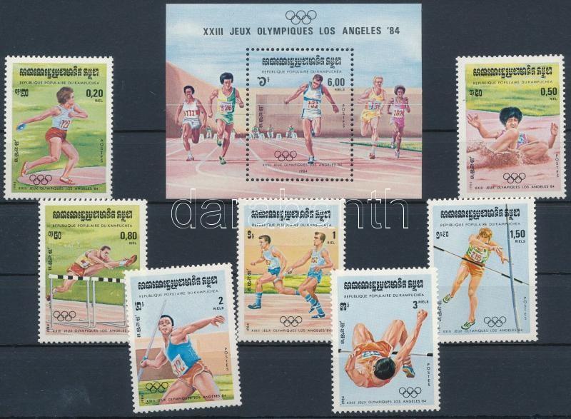 Summer Olympics, Los Angeles (II.) set + block, Nyári Olimpia, Los Angeles (II.) sor + blokk
