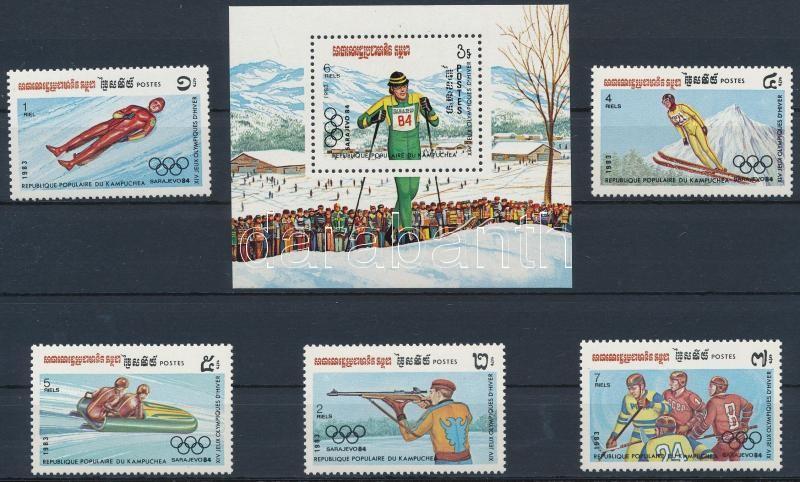 Winter Olympic Games - Sarajevo (I.) set + block, Téli Olimpia, Szarajevó (I.) sor + blokk