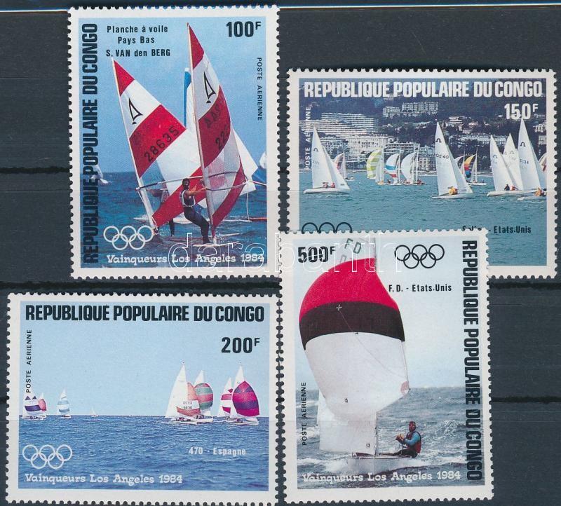 Olympic medalists, sailboats set, Olimpiai érmesek, vitorlások sor